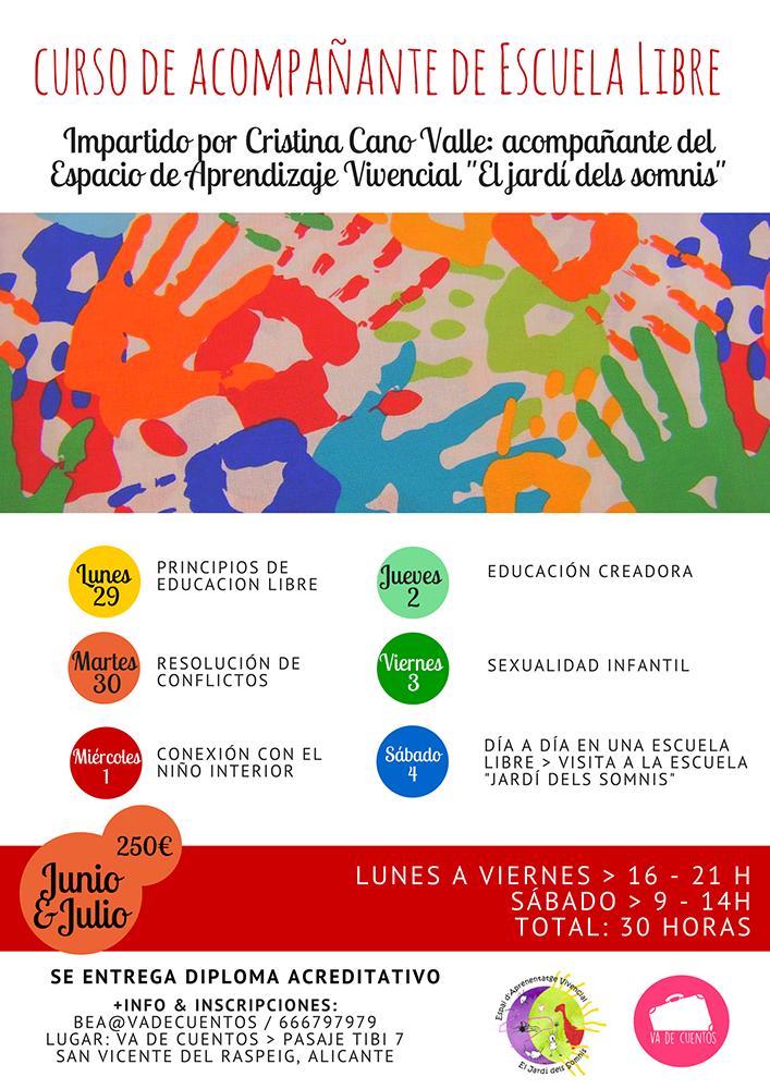 Curso de Acompañante de Escuela Libre Alicante