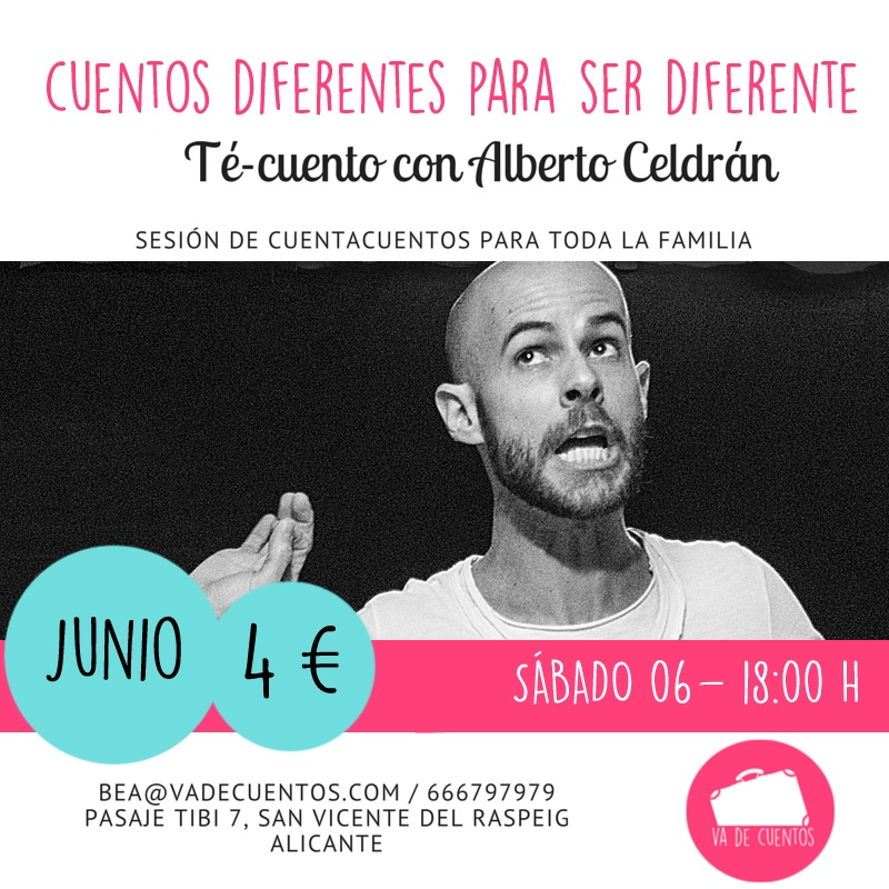 Cuentacuentos con Alberto Celdrán Cuentos Diferentes