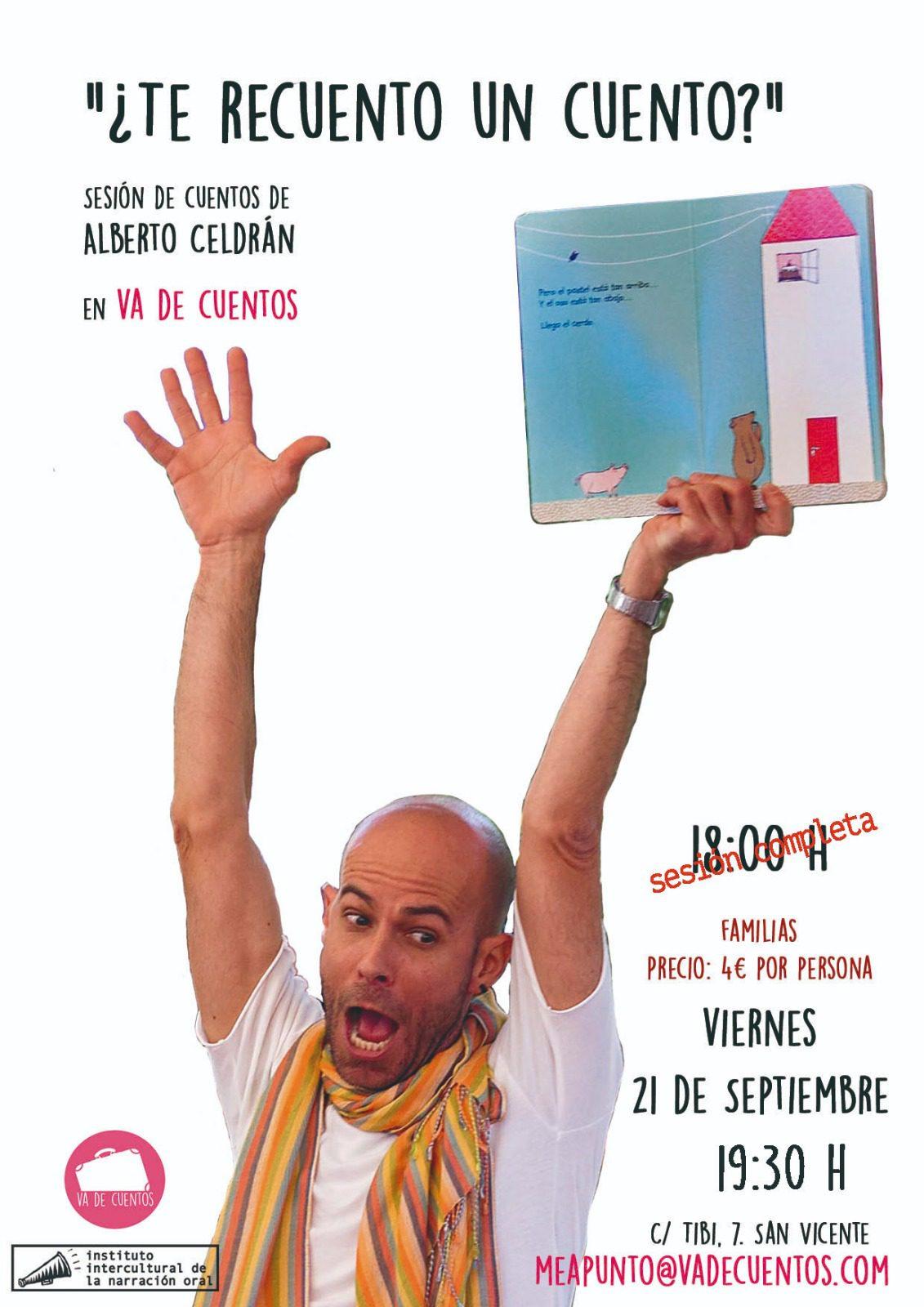 Cuentacuentos en Alicante con Alberto Celdrán